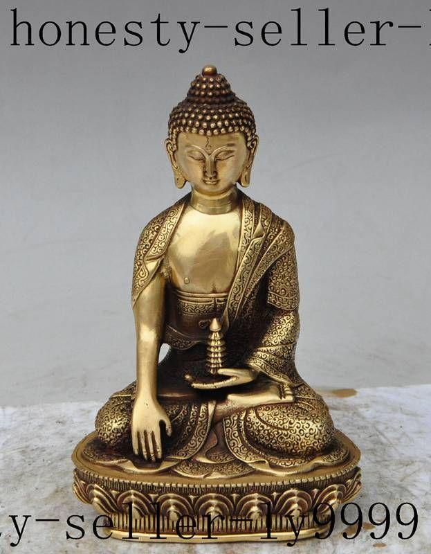 christmas old chinese buddhism brass lotus sakyamuni Shakyamuni Tathagata buddha statue halloween