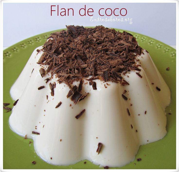 El flan de coco rápido es un postre muy sencillo de preparar y con un sabor a coco muy delicado.