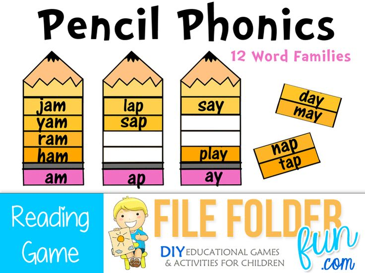 506 best file folder games images on pinterest file folder games phonics game choose a word strip and read the word listen to the ending sound and find the correct pencil for your word fandeluxe Gallery
