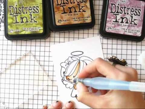 Coloring with Distress Ink - YouTube