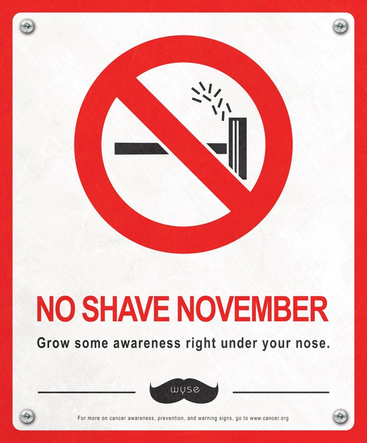 """Grow some awareness right under your nose.""""No shave Men"""" by Wyse Advertising #movember"""