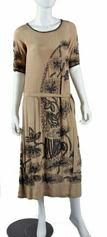 Art Deco 1920s Beaded Dress.