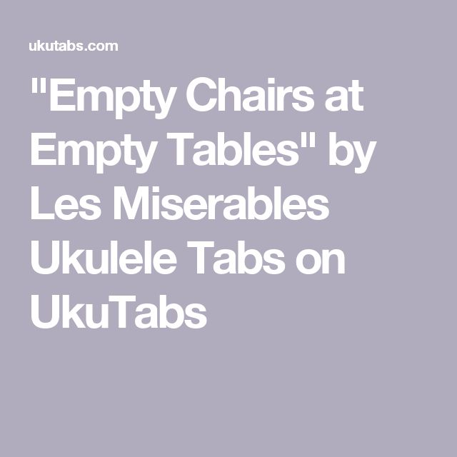 """""""Empty Chairs At Empty Tables"""" By Les Miserables Ukulele"""