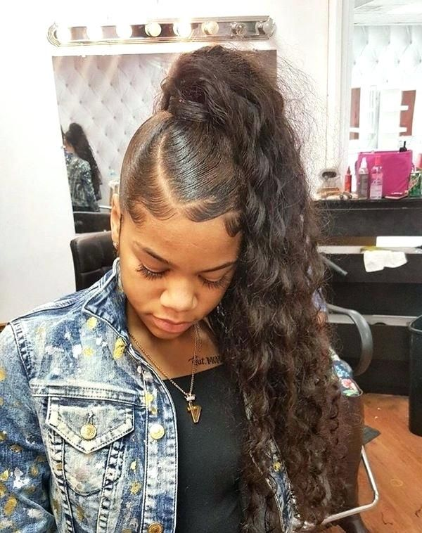 Pin By Tyffanie On Ponytails Black Ponytail Hairstyles Black Hairstyles With Weave Weave Ponytail Hairstyles