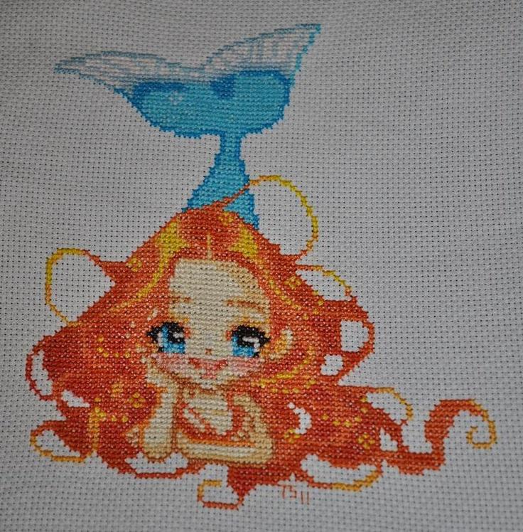 Mermaid Doll - Lisbei | Nerdy Cross Stitch | Pinterest | Mermaids Cross Stitch And Mermaid Dolls