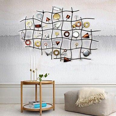 fém+fali+művészet+fali+dekoráció,+absztrakt+művészet+geometria+dekoráció+–+USD+$+187.99