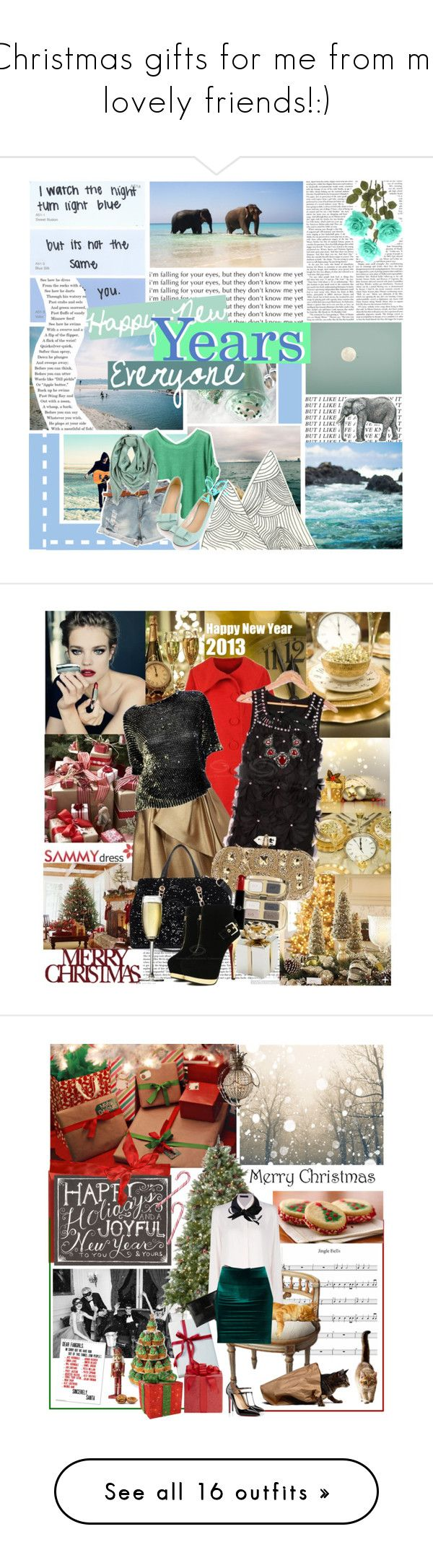 """""""Christmas gifts for me from my lovely friends!:)"""" by asia-12 ❤ liked on Polyvore featuring Fraiche, Mackintosh Philosophy, Balmain, Martino, Guerlain, Dice Kayek, Marchesa, Dolce&Gabbana, Giorgio Armani and Elie Tahari"""