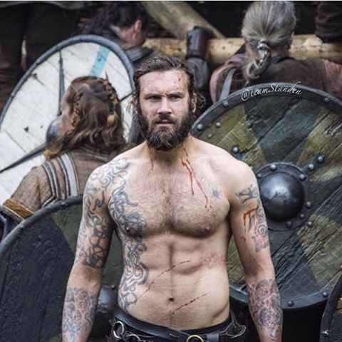 He can dress up his tattoos and cut his hair but can #Rollo ever prove himself to #Gisla to be anything more than just a savage beast? An all new episode of #Vikings tonight on @history