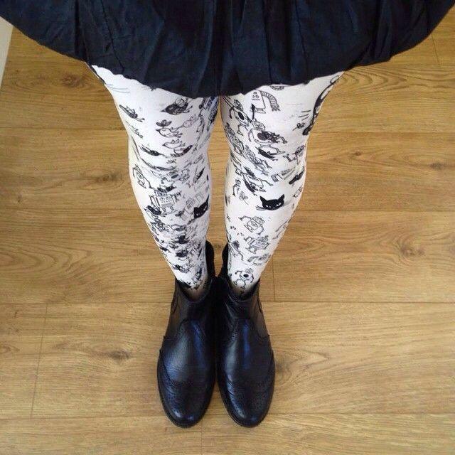 """Virivee printed tights! ;) Photo sent by Anita from Scotland"""""""