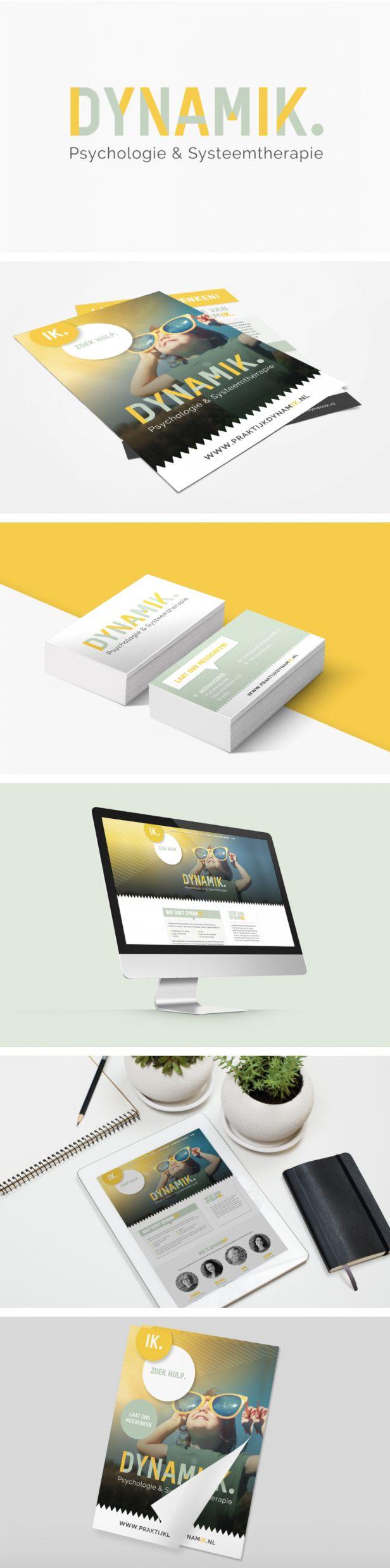 Huisstijl en energiek logo met geel en lichtgroen - door Juli Ontwerpburo
