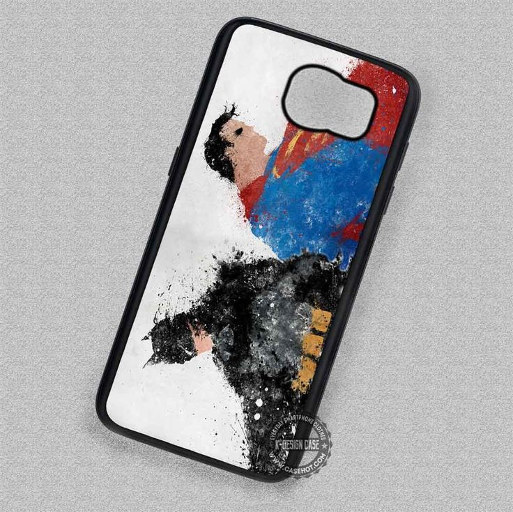 The Black and The Red Superman Batman Splatter - Samsung Galaxy S7 S6 S5 Note 7 Cases & Covers