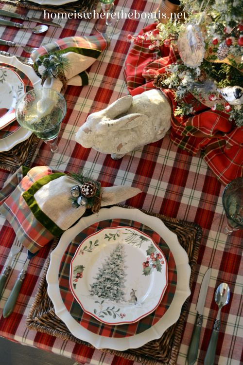 Plaid Tidings And Table Challenge Dining And