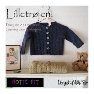 Lilletrøjen en strikket babytrøje