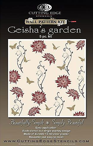 Cutting Edge Stencils   Geishau0027s Garden Wall Pattern Kit. $39.95. See More  Wall Pattern