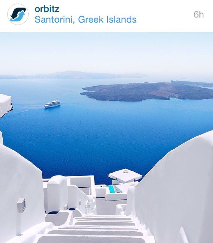 @orbitz is doing a #InstaGreeceGiveaway where you could win a trip for 2 to Greece! Greece has been one of my favorite places we've visited so far. How can you not fall in love with those blues?! It's like staring into deep blue eyes and not coming out in