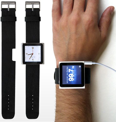 Turn your iPod Nano into a watch. Super cool. LILI!!!: Apples Watches, Rock Bands, Wrist Watches, Watches Bands, Cool Watches, Rocks Bands, Ipod Nano Watches, Ipod Watches, Watches Straps