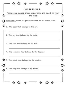 Reference Skills Worksheets Pdf Best  Possessive Nouns Worksheets Ideas Only On Pinterest  Free Printable Earth Science Worksheets Excel with Maths Worksheets For Ks2 Word Possessive Nouns Nutrition Facts Worksheet