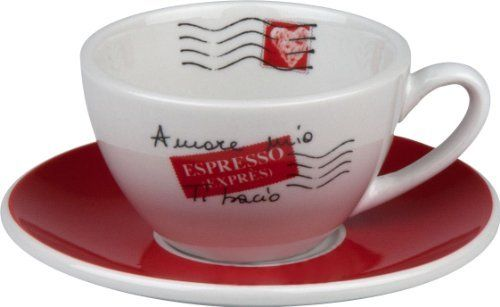 Konitz - 'Coffee Bar' Collection - 'Amore Mio' No.3 Cafe Creme Cups/Saucers, s/4