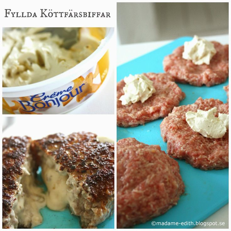 Madame Edith - Enkla recept och Klassisk inredning: Fyllda köttfärsbiffar - Recept