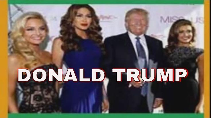 DONALD TRUMP with his girlfriends  Paul Ryan Comes To Donald Trump