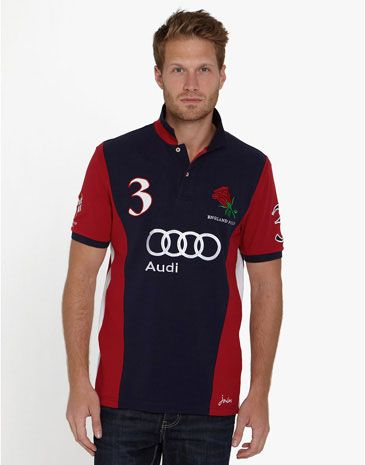 Joules ENGPPOLO Mens England Polo Shirt. I have the womens version of this. Instead of navy in the middle it's white.