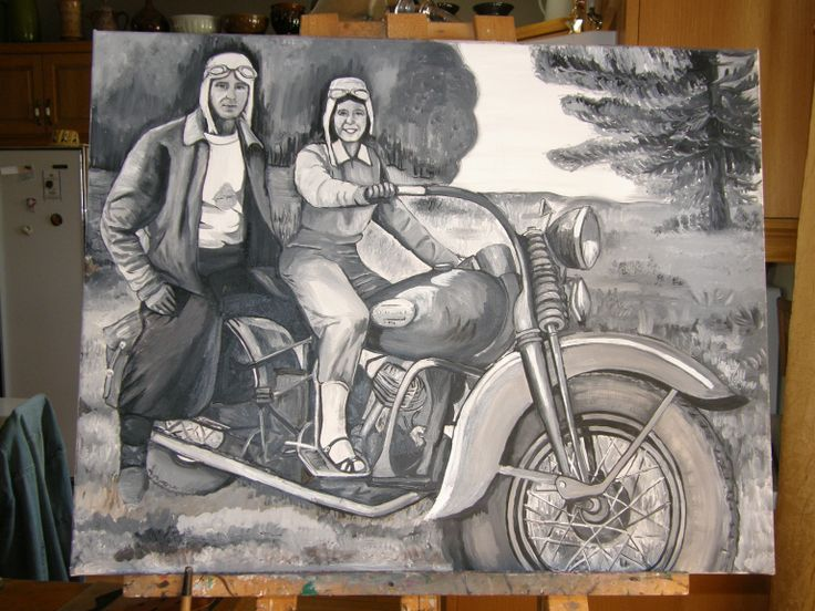 Mon beaux père sur sa moto. Années 1930.