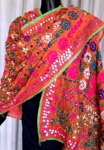 This beautiful phulkari dupatta on handloom chanderi fabric has been hand embroidered with wool thread and sequins. Buy from http://giftpiper.com/Chanderi-Phulkari-Dupatta-Orange-id-890648.html. Also see our famous dupatta collection at http://giftpiper.com/Stoles-Dupattas-catid-36678-page-1.html