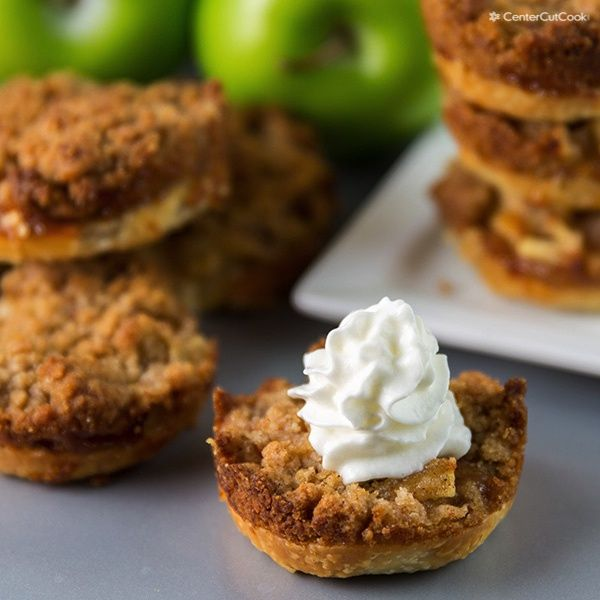 Mini Apple Pies with Streusel Topping. I made these for thanksgiving last year and everyone was begging for more!