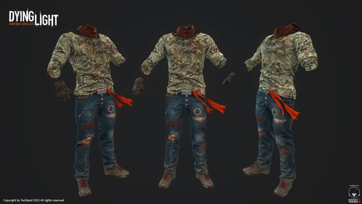 Dying Light character textures art dump