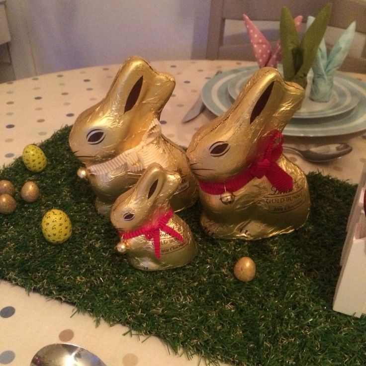Lindt bunny family