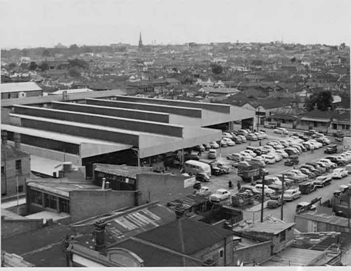 Aerial view of Prahran Market, ca. 1952.