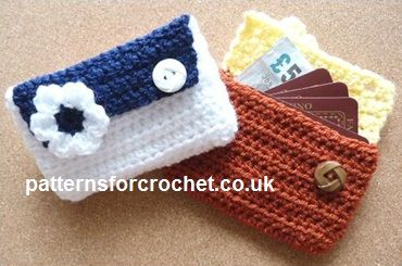 Free crochet pattern card pouch - purse usa