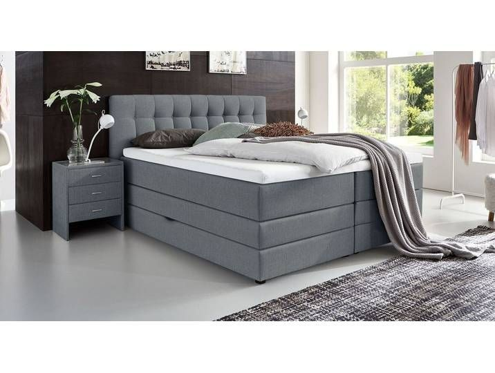 Box Spring Bed With Bed Box 100 200 Cm Brown With Topper Lucian