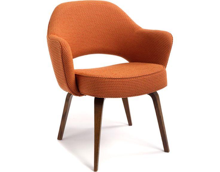 Saarinen Executive Arm Chair With Wood Legs Hivemodern