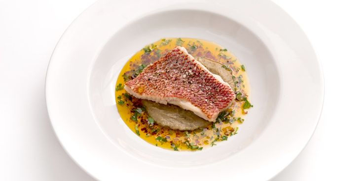 Red mullet is paired wonderfully with aubergine purée in Bryan Webb's red mullet recipe. Chilli and garlic add spectacular flavour to the cooked red mullet