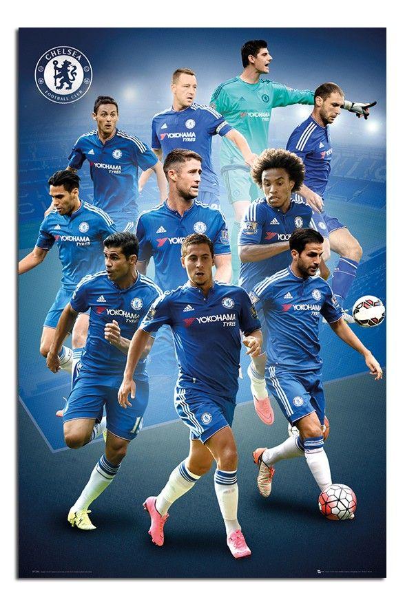 Chelsea FC Players 2015/16 Season Poster