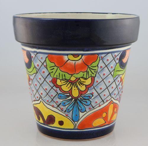 Mexican-Ceramic-Flower-Pot-Planter-Folk-Art-Pottery-Handmade-Talavera-30
