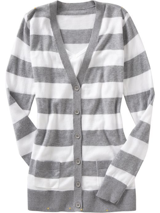 stripes: Closet Spaces, Stripes Cardigans, Longsleev Cardigans, Limited Closet, Clothing Style, Stripes Sweaters, Wear Style, White Stripes, White Tops