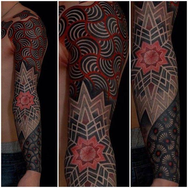 Artist: Gerhard WiesbeckTattoo Sleeve, Artists Gerhard Wiesbeck, Tattoo Inspiration, Arts Tattoos Misc, Body Art, Abstract Tattoo, Geometric Tattoo, Inspiring Tattoos, Inspiration Tattoo