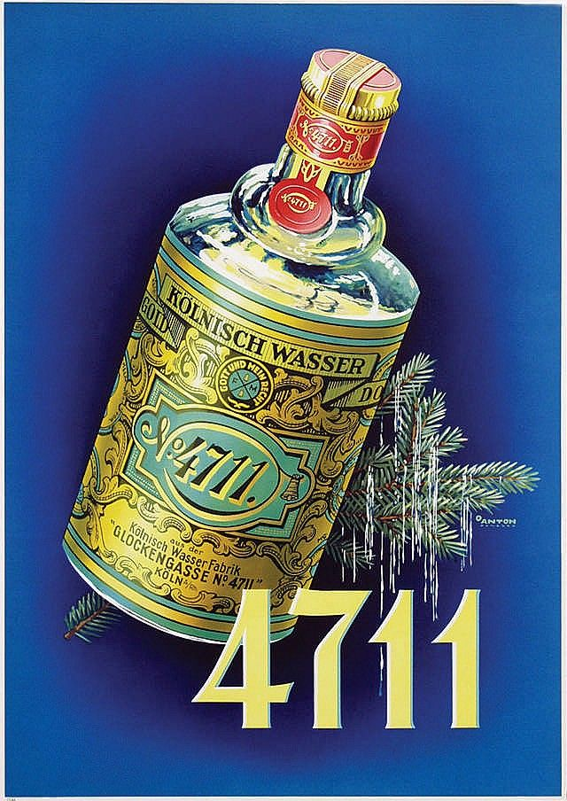4711 water advertising poster - 1950s - Ottomar Anton