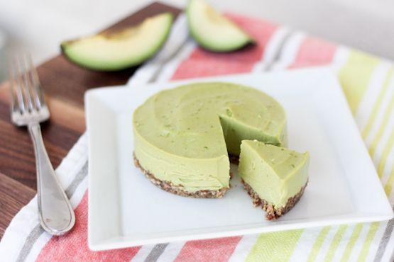 Romige avocado taart, paleo vegan raw