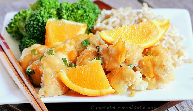 orange cauliflowerExpress Copycat, Copycat Pandas, Healthy Makeovers, Express Orange, Copycat Orange, Chinese Recipe, Express Chinese, Chicken Sauces, Healthy Chinese Food