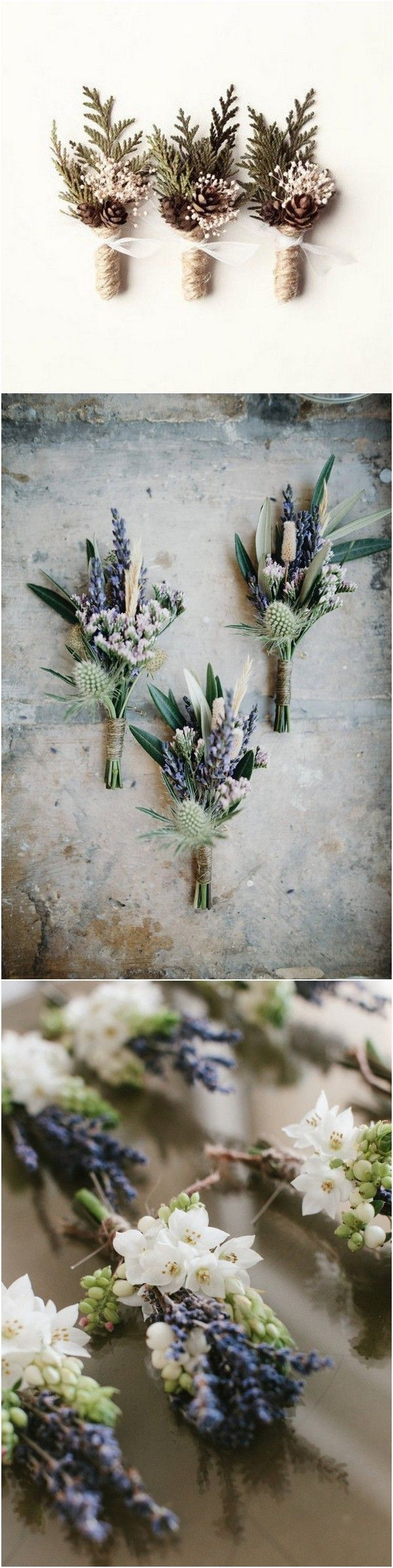 Wedding Boutonniere Ideas for Groom and Groomsmen