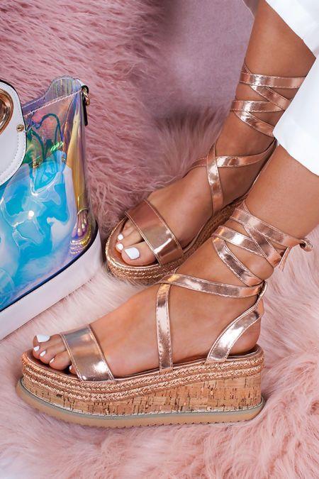 09f36cd54 INDIGO Rose Gold Wrap Up Espadrille Flatforms in 2019 | clothes and shoes | Gold  espadrilles, Espadrilles, Platform espadrille sandals