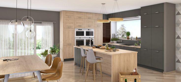 Une cuisine partage La cuisine équipée ROMA est un modèle qui permet à toutes la famille de se rassemble