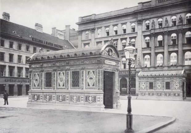 1896. Metro entrance in Budapest, gone by now.