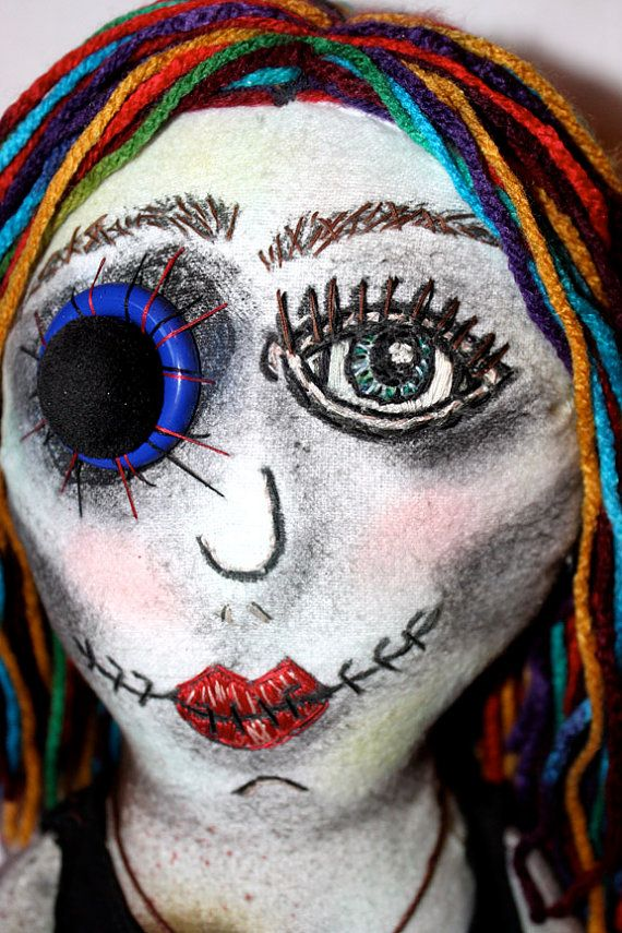 Sophia the Zombie Art Doll by jessicarenahan on Etsy, $75.00