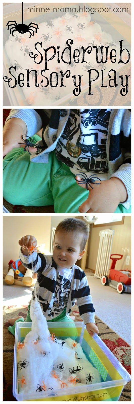 Minne-Mama: Spider Web Sensory Play