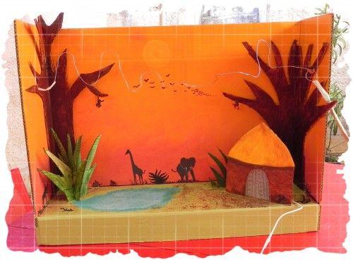 Cardboard Cutout Play Scenes