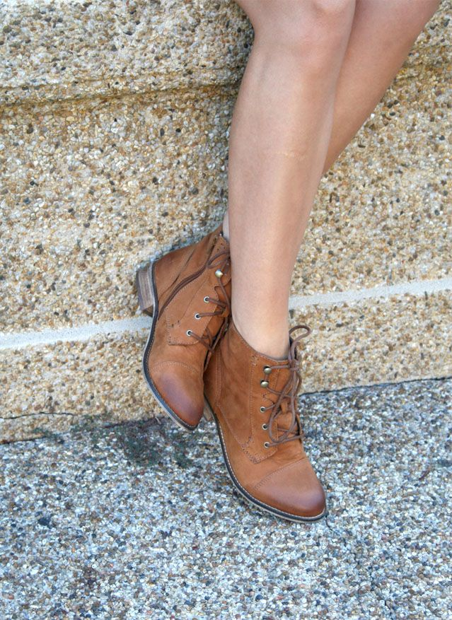 lace up booties for fall skirts and dresses